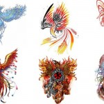 phoenix bird flame tattoo