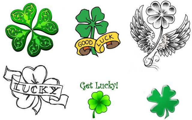 Clover Tattoos for Luck