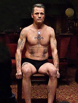 Viggo's Tattoos in Eastern Promises