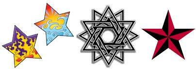 6 Point Star Tattoos