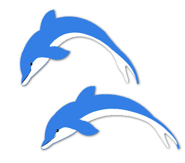 twin dolphins